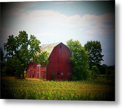 Old Indiana Barn Metal Print by Joyce Kimble Smith
