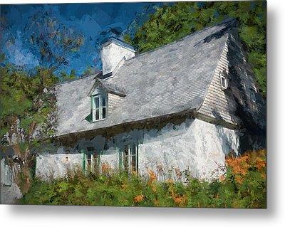 Old Island Cottage Metal Print