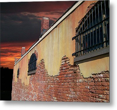 Metal Print featuring the photograph Old Jail by Larry Bishop