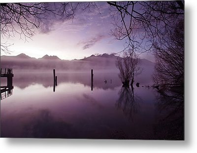 Metal Print featuring the photograph Old Jetty Remains Kinloch by Odille Esmonde-Morgan