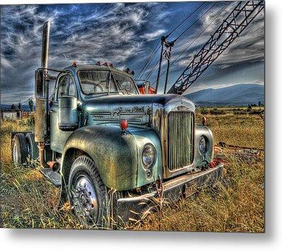 Old Mack Truck Metal Print by Peter Schumacher