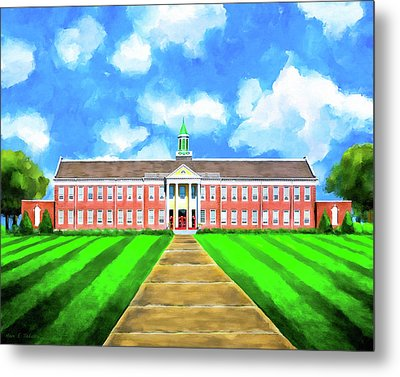 Metal Print featuring the mixed media Old Main - Andalusia High School by Mark E Tisdale