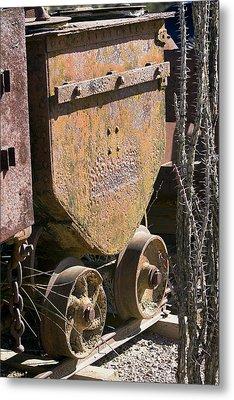 Old Mining Car Metal Print by Phyllis Denton