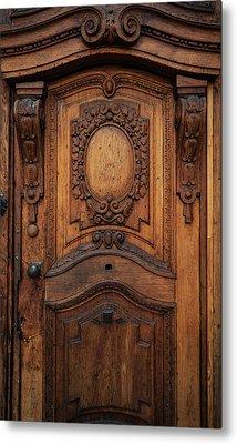 Old Ornamented Wooden Doors Metal Print