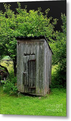 Old Outhouse Metal Print by Esko Lindell