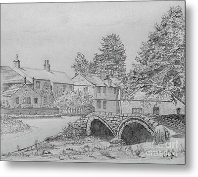 Old Packhorse Bridge Wycoller Metal Print