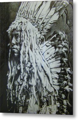 Old Person Metal Print by Michael Lee Summers