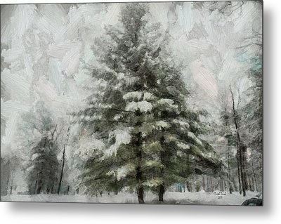 Metal Print featuring the mixed media Old Piney by Trish Tritz