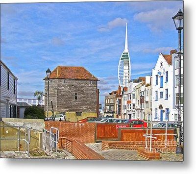 Old Portsmouth Flood Gates Metal Print by Terri Waters