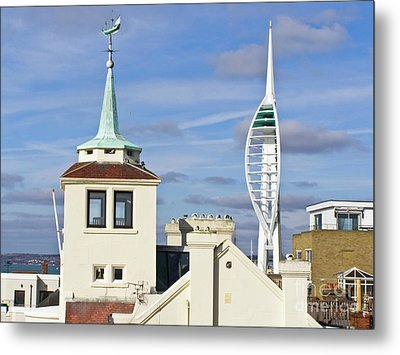 Old Portsmouth's Towers Metal Print by Terri Waters