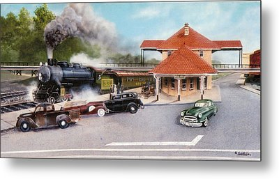 Old Rock Hill Depot   Sold Metal Print