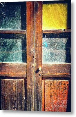 Metal Print featuring the photograph Old Rotten Door by Silvia Ganora