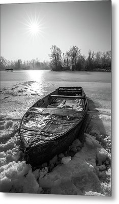 Metal Print featuring the photograph Old Rusty Boat by Davorin Mance