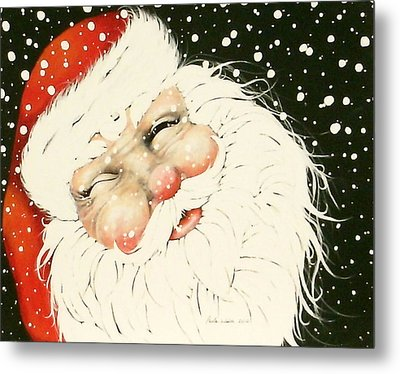 Old Saint Nick Metal Print by Paula Weber