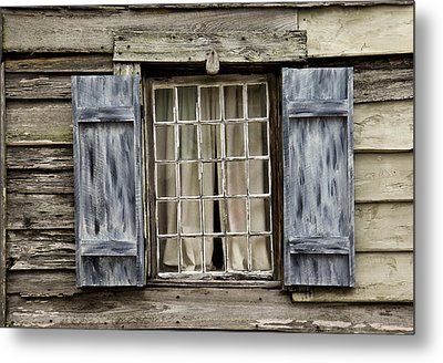 Old Schoolhouse Window Metal Print by Frank Russell
