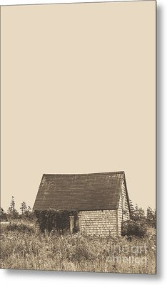 Old Shingled Farm Shack Metal Print