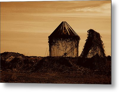Metal Print featuring the photograph Old Silo by Kathleen Stephens