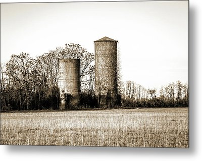 Old Silos Metal Print by Barry Jones