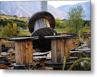 Old Spool Metal Print