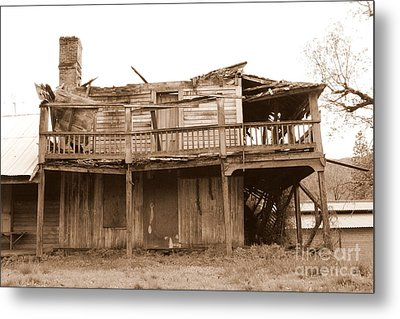 Old Stagecoach Stop Metal Print by Marie Neder