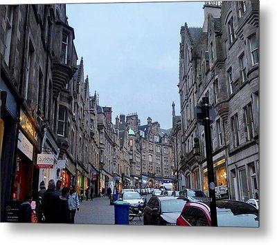Old Town Edinburgh Metal Print by Margaret Brooks