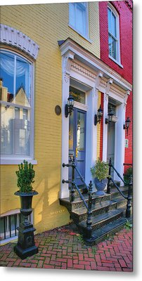Old Town Homes I Metal Print