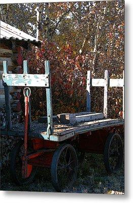 Old Wagon Metal Print by Stuart Turnbull