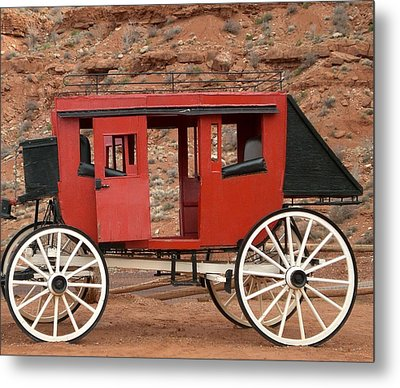 Old West Taxi Metal Print by Fred Wilson