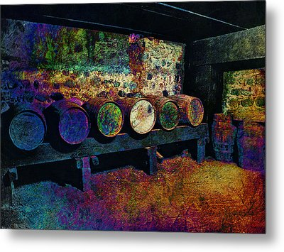 Metal Print featuring the digital art Old Wine Barrels by Glenn McCarthy Art and Photography