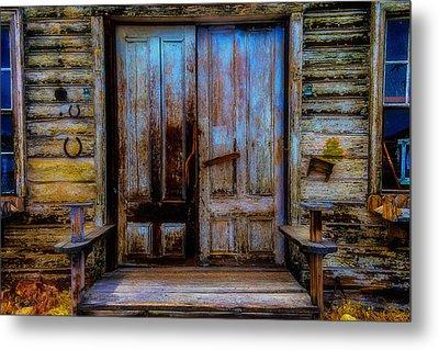Old Wooden Doors Virgina City Metal Print