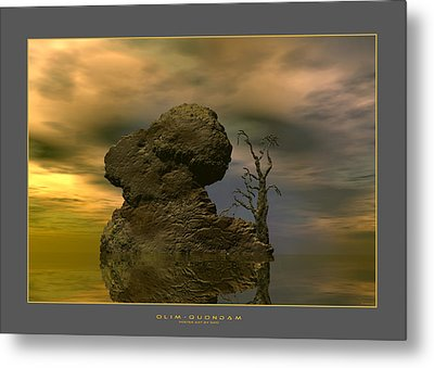Metal Print featuring the digital art Olim - Quondam - Surrealism by Sipo Liimatainen