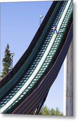 Olympic Ski Jump Training Metal Print