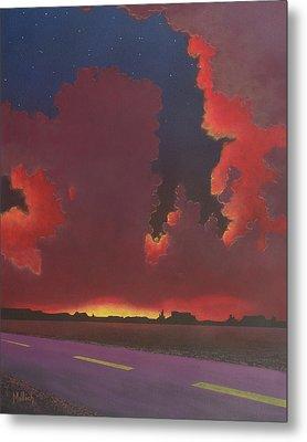 On A Dark Desert Highway Metal Print by Jack Malloch
