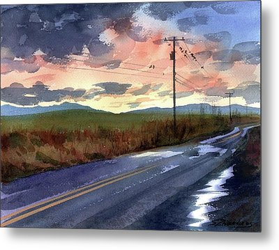 On A Road Side Metal Print