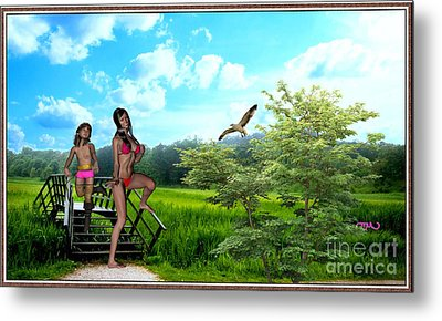 On An Outing In The Field 2 Metal Print by Pemaro