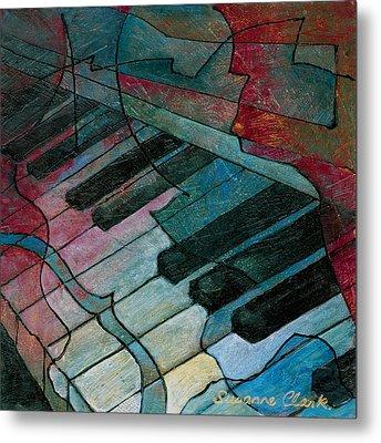 On Key - Keyboard Painting Metal Print by Susanne Clark