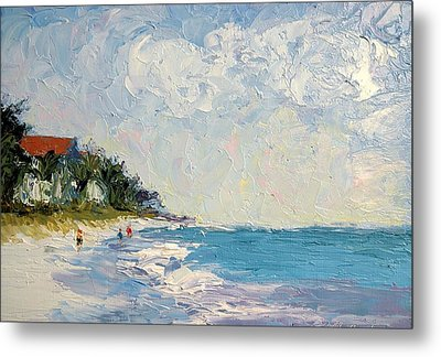 On The Beach  Metal Print by Colleen Murphy