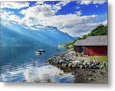 Metal Print featuring the photograph On The Beach Of Sorfjorden by Dmytro Korol