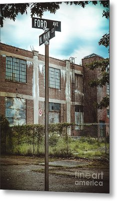 On The Corner Of Ford And Main Metal Print