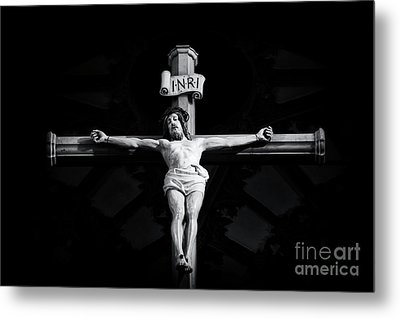 On The Cross Metal Print by Tim Gainey