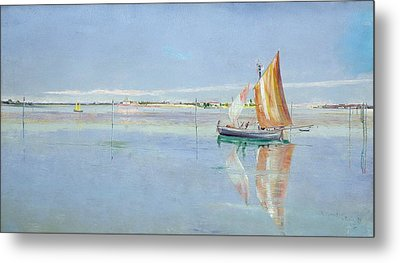 On The Lagoon Metal Print by John William Inchbold