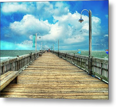 On The Pier At Tybee Metal Print