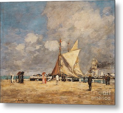 On The Pier, Deauville, 1889  Metal Print