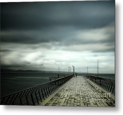 Metal Print featuring the photograph On The Pier by Perry Webster