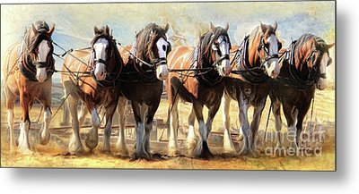 Metal Print featuring the digital art  On The Plough by Trudi Simmonds