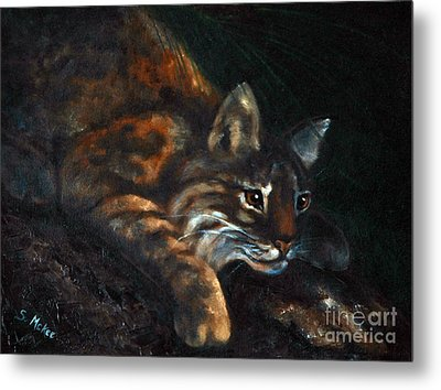 Metal Print featuring the painting On The Prowl by Suzanne McKee
