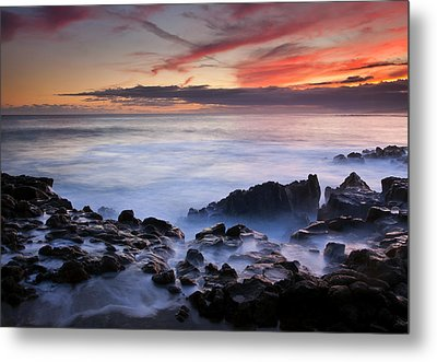 On The Red Rocks Metal Print by Mike  Dawson