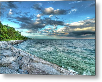 Metal Print featuring the photograph On The Rocks by Anthony Rego