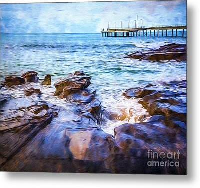 Metal Print featuring the photograph On The Rocks by Perry Webster