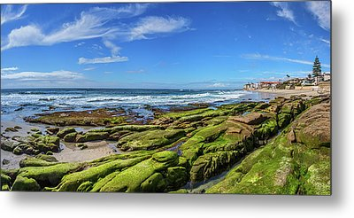 On The Rocky Coast Metal Print